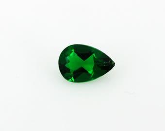 9x6 mm Pear Shaped Lab Created Emerald Loose Gemstone