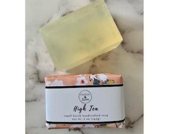 High Tea - Artisan Handmade Soap - Vegan Soap - Bar Soap - Sulfate Free Soap - Spring Soap -Gift Soap