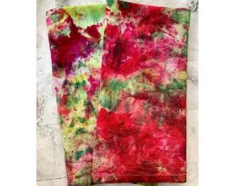 Springtime - Hand Dyed Kitchen Towel - Flour Sack Towel - Colorful Kitchen Towel - Farmhouse - Kitchen Decor- Dishtowel- Cooking