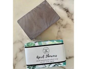 April Showers - Artisan Handmade Soap- Bar Soap- Sulfate Free Soap -Vegan Soap - Spring Soap -Gift Soap