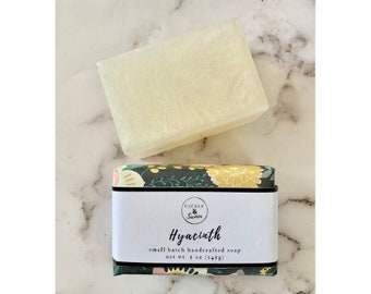 Hyacinth - Artisan Handmade Soap - Bar Soap - Sulfate Free Soap - Hyacinth Scented Soap-Vegan Soap -Spring Equinox -Gift for Her