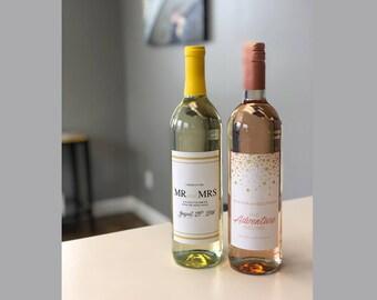 Wine Bottle Labels, Wedding Wine Labels, Stickers, Matching Wedding Invitations, Bottle Labels, Wine Label Stickers, Table Number Wine Label