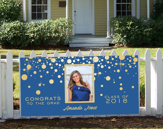 High School Graduation Banner Sign, Graduation Banner, Printed, Graduation Party Sign, High School Senior Banner, Party Banner, Cheap Banner