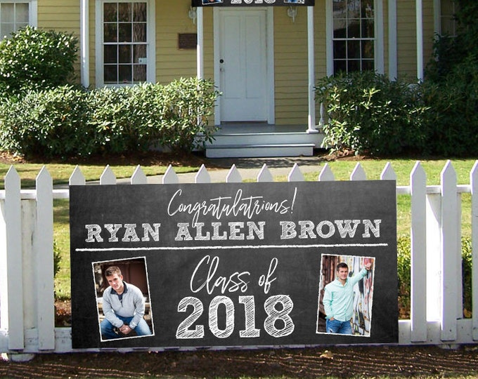 Graduation Banner Sign, High School Graduation Banner, Yard Sign, Graduation Party Sign, High School Senior Banner, Party Banner, Cheap Sign