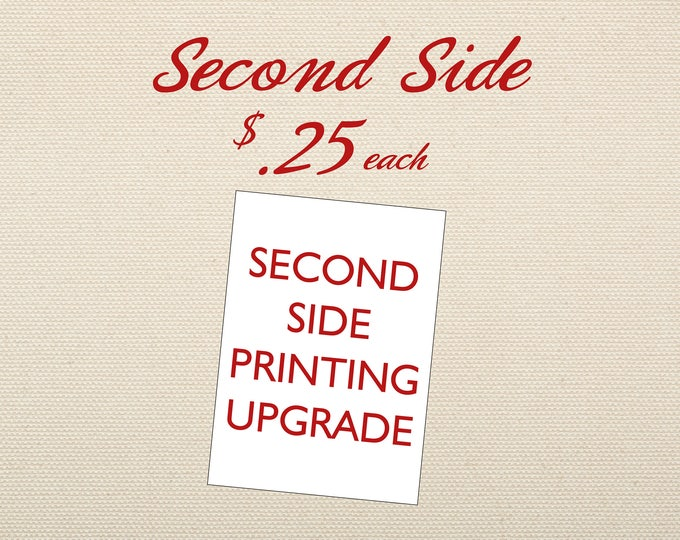 Second Side Printing Add-on