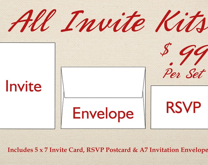 Wedding Invitation Set Printed, Cheap Wedding Invitations, Unique, Custom Invitations, Affordable