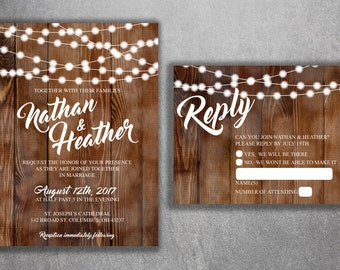 Kraft Wedding Invite Etsy