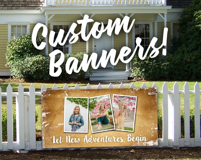 Custom Vinyl Banner, Custom Party Banner, Birthday Banner, Custom High School Graduation Banner, High School Senior Banner, Cheap Sign