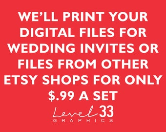 high quality wedding invitations just 99 each by level33graphics