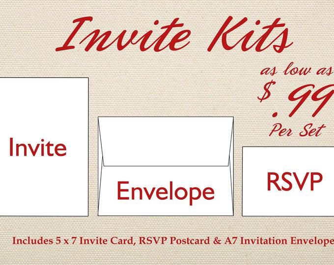 Wedding Invitation Set Printed, Cheap Wedding Invitations, Unique, Custom Invitations, Affordable