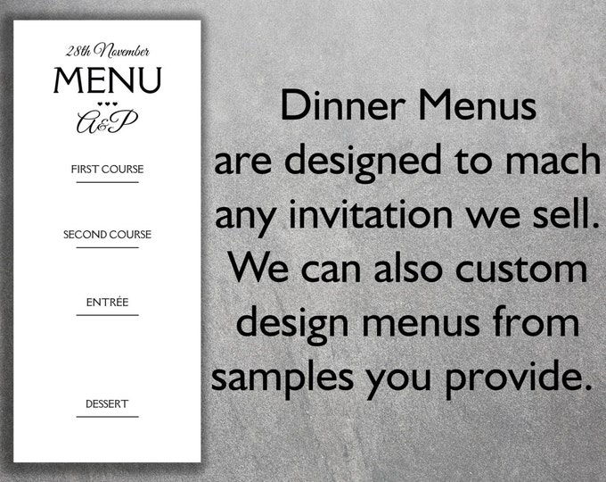Affordable Wedding Reception Dinner Menus Add-on - Cheap Wedding Reception Dinner Menus ,Unique, Custom, Simple, DIY, Classic