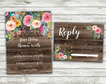 Bohemian Invitations Etsy