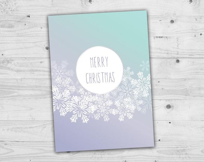 Snowflake Christmas, Family Christmas Card, Holiday Cards, Custom Cards
