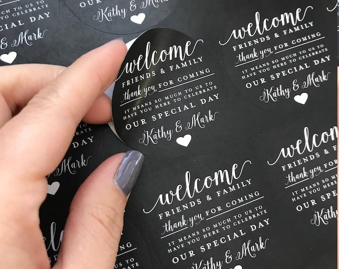 Wedding Favor Stickers, Labels, Matching, Wedding Invitations, Elegant, Rustic, Vintage, Shabby Chic, Boho, Wood, Gold, Barnwood, Custom