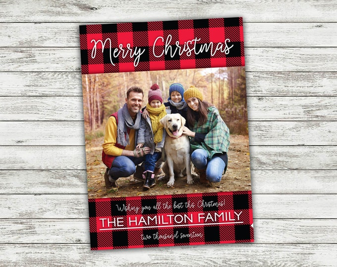 Plaid, Family Christmas Card, Photo Christmas Cards, Our First Christmas, Personalized Cards, Holiday Cards, Photo, Picture, Custom Cards