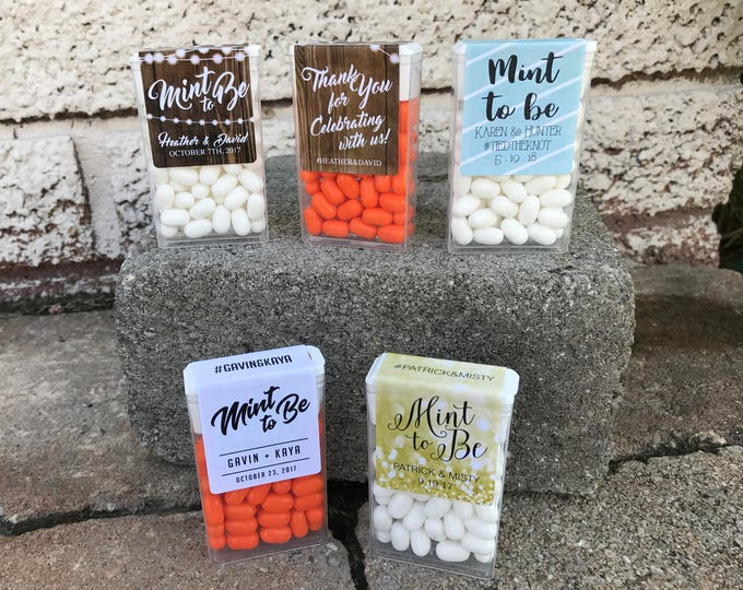 Mint To Be Tic Tac Wraparound Labels - Tic Tac Labels, Wedding Favor Label, Mint To Be, Shower, Mint to Be Favor Labels, Labels, Mints