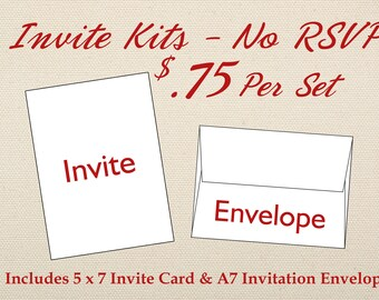 Invitation et enveloppe seulement