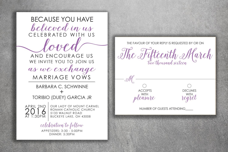Affordable Wedding Invitations Set Printed - Cheap Wedding ...