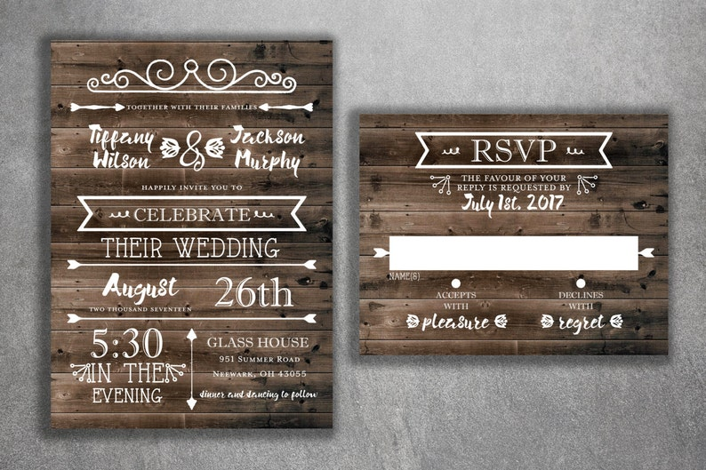 Cheap Wedding Invitations.Rustic Country Wedding Invitations Set Printed Cheap Wedding Invitations Burlap Kraft Wood Affordable Woodsy Lights Outside