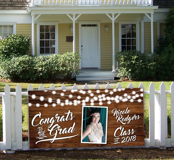 graduation banner sign high school graduation banner yard sign graduation party sign high school senior banner party banner cheap sign