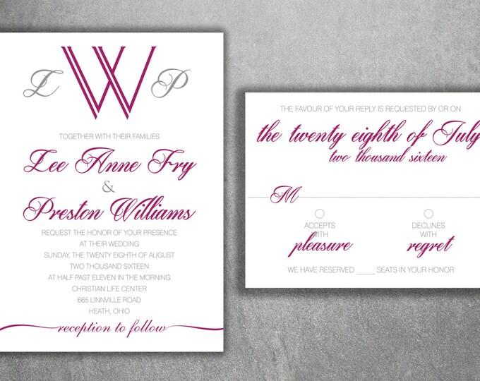 Wedding Invitation, Affordable Wedding Invitations, Cheap Wedding Invitations , Announcements, Simple, Classic, Elegant