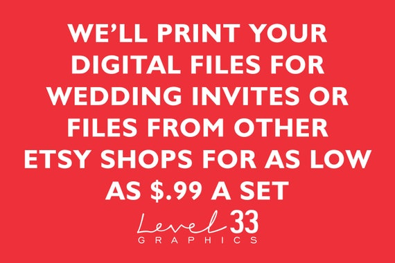 affordable printing of your digital wedding invitations etsy