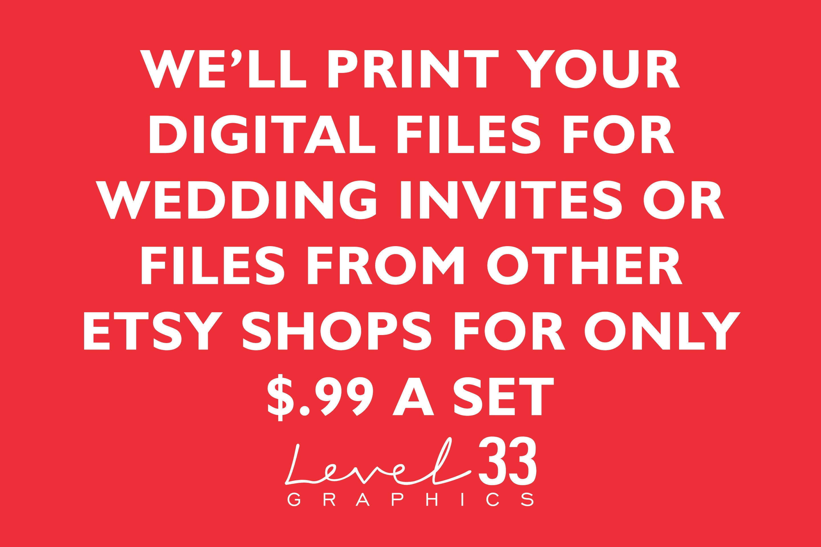 Affordable Printing of your Digital Wedding Invitations | Etsy