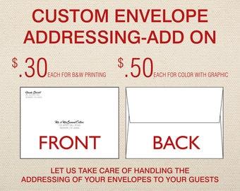 Enveloppe personnalisée A7 abordant-ajouter sur pour les Invitations de mariage