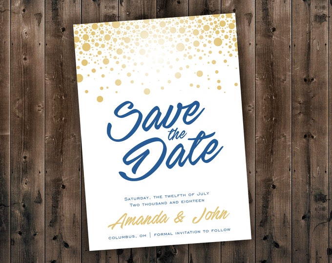 Save The Date Card, Postcard Save the Date, Photograph Save the Date, Save the Date Card with Photo, Unique Save the Date, Engagement Card