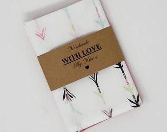 Handmade Eco Friendly Cotton Handkerchiefs 2 Pack