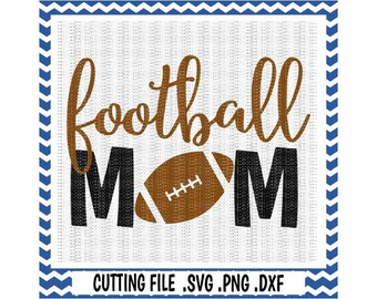 Football Mom Svg-Dxf-Png, Cutting Files For Silhouette Cameo & Cricut, Svg Download.