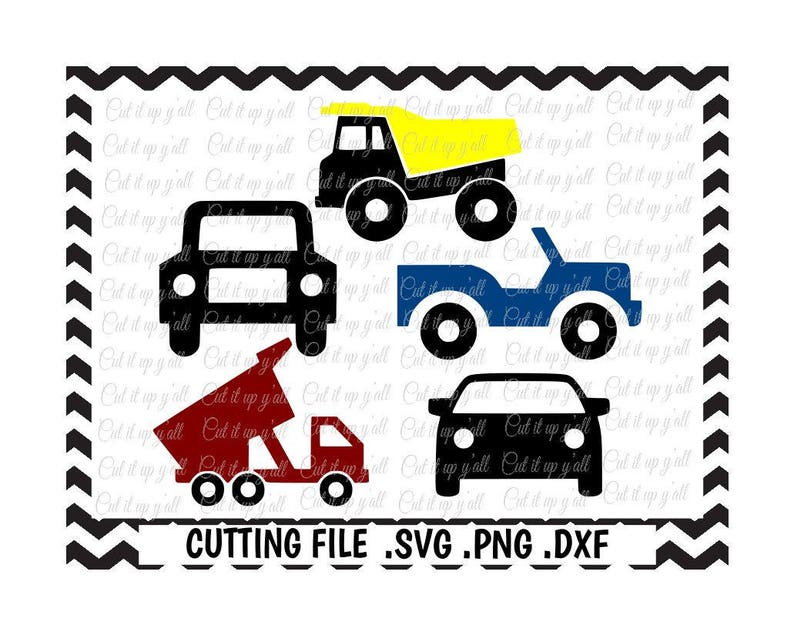 Listing All Trucks >> Construction Trucks Svg Truck Svg Car Svg Cars And Trucks Svg Dxf Fcm Png Cutting Files For Silhouette Studio Cricut Svg Download