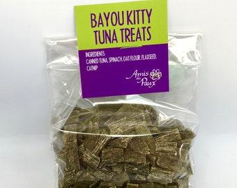 Bayou Kitty Tuna Treats. Gourmet cat treats handmade in NOLA for pampered pets everywhere. Catnip, tuna, seafood, limited ingredient.