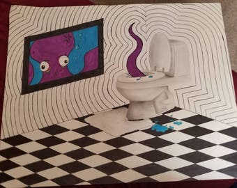 Octopus bathroom