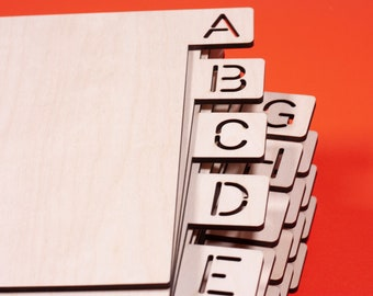 Vinyl record dividers. Horizontal A-Z  set of 26 letters. FREE SHIPPING