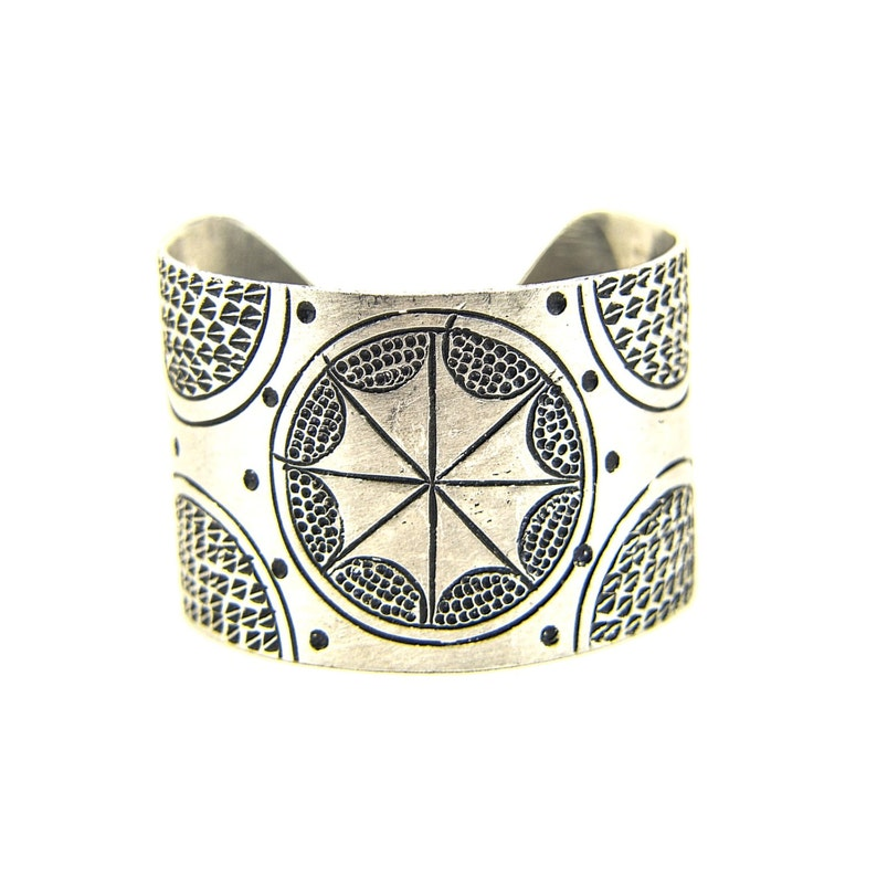 African Jewelry Handmade Recycled Aluminium Cuff Bracelet