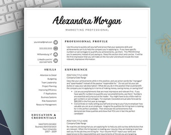 professional resume template for word pages 1 2 and 3 page resume template cover letter references icons creative resume cv