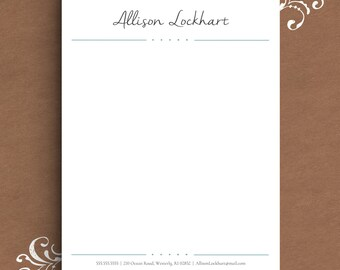 Letterhead template etsy letterhead template for word diy custom letterhead personalized letterhead business letterhead diy stationary custom stationary altavistaventures Gallery