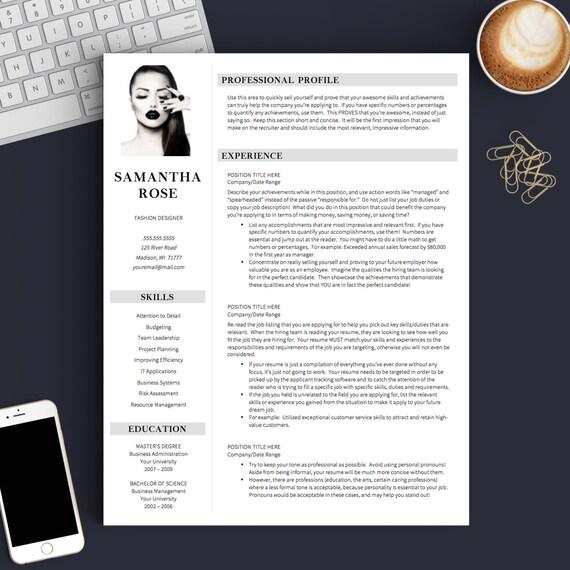 Cv Template With Photo Creative Cv Design Fashion Resume Template Resume With Photo Creative Resume Template Free Resume Template