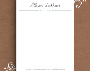 Letterhead Template for Word | DIY Custom Letterhead | Personalized Letterhead, Business Letterhead | DIY Stationary, Custom Stationary