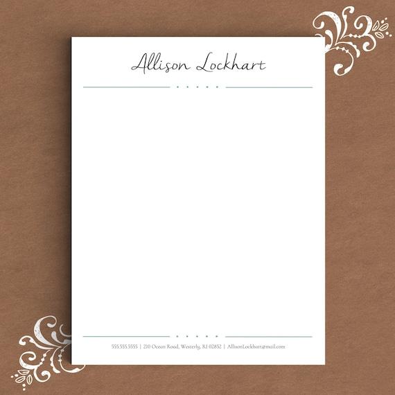 personal letterhead templates word