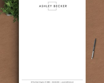 Letterhead Template for Word | Custom Letterhead | Personalized Letterhead, Business Letterhead | DIY Stationary, Custom Stationary