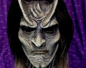 Walker Demon Silicone Pullover Half-mask with hair