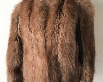 98b2486a9eef Women s warm brown polar fox fur coat