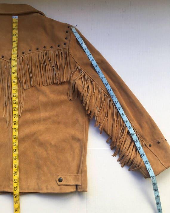 Medium Western Cowboy Time Leather Classic Jacket Fringed Size Orange All xwfzgqg