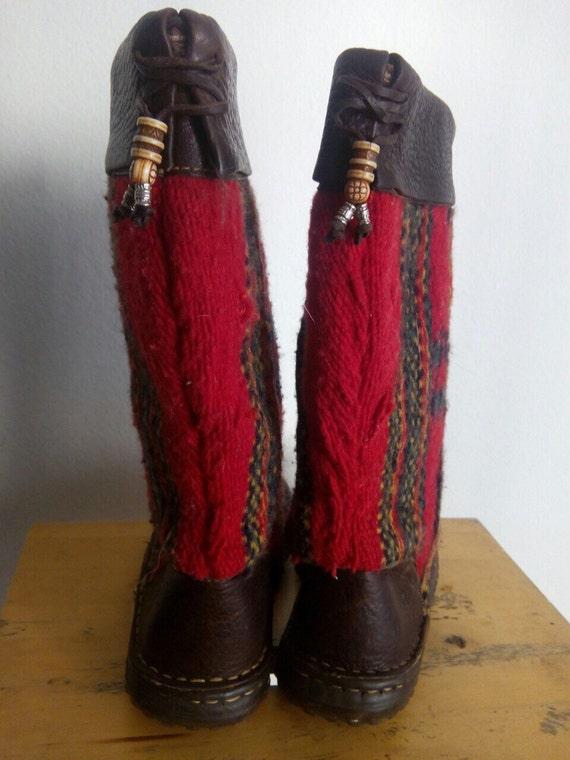 en rouges des v Noir bottes avec cuir bottes qwUz7P