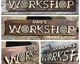 Fathers Day Woodworking Gift Grandpa/'s Workshop Carpenter Pencil Set