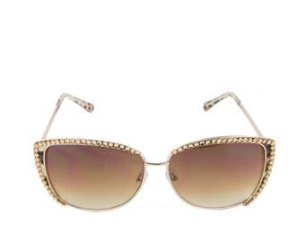 8a2e21541e7 Cat eye sunglasses made with Swarovski Crystals