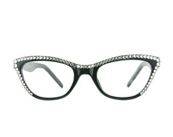 9ffd2d6d172 CAT EYE Reading Glasses with Swarovski Crystals