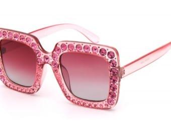 39232bf9ed Glitter Sunglasses Oversized Square